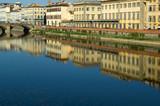 Firenze case specchio Arno poster