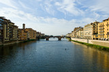 Fiume Arno Firenze Italia poster