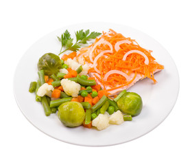 salmon with vegetables ,humpback salmon