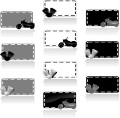motorbike labels