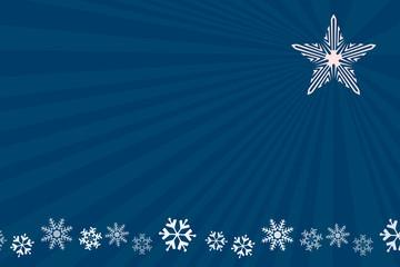 Fondo navidad azul con estrella