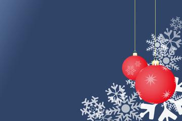 Fondo navidad azul con bolas