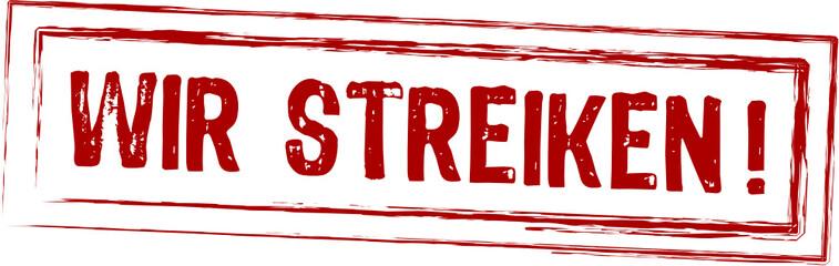 Streik Stempel