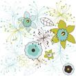 Flower pattern. Vector