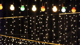 night club decorated with lights and adornments for christmas 4 poster