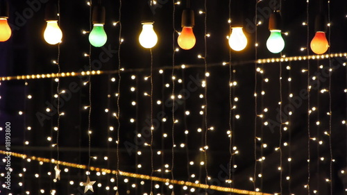 night club decorated with lights and adornments for christmas 4