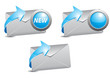e-mail blue icon