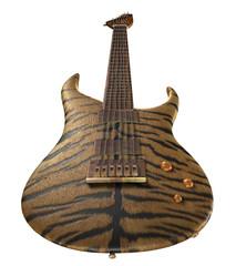 Guitar in a skin of a tiger