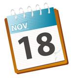 november calendar poster