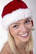 Cute Blond Santa Girl