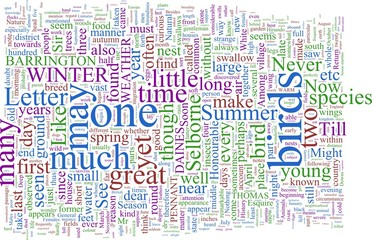 Word Cloud - White's Natural History of Selbourne