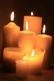 group of ivory white candles poster