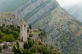 Old fortress town in the mountains. Stari Bar. Montenegro poster