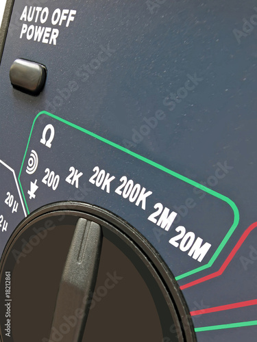 digital multimeter, switch, different measurements