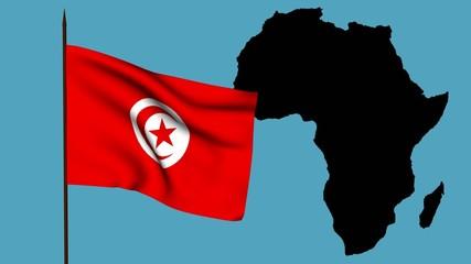 Africa  bandiera della Tunisia