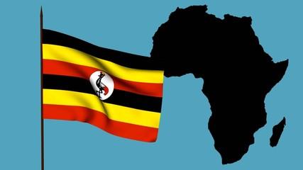 Africa  bandiera dell'Uganda