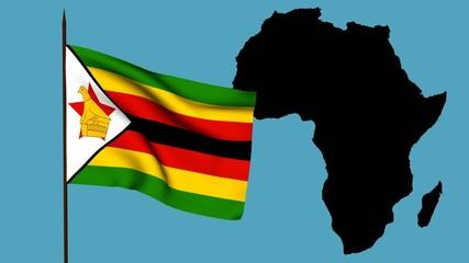 Africa  bandiera dello Zimbabwe