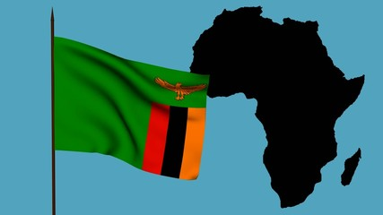 Africa  bandiera dello Zambia