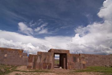 Main Entrance to Kalasasaya Temple, Tiwanaku, Bolivia.