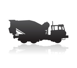 rear discharge concrete transport and mixer truck