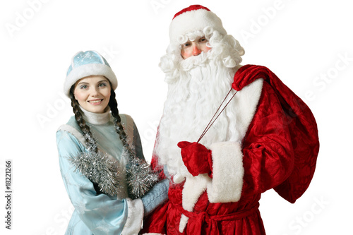 Ded Moroz and Snegurochka