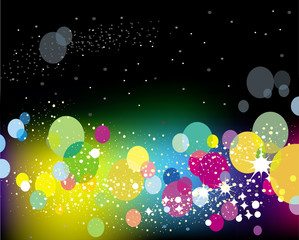 Abstract lights vector background