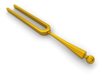 Retro tuning fork
