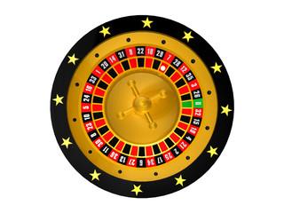 Roulette Schwarz/Gold Top
