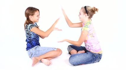 Girls Fun Playing Hand