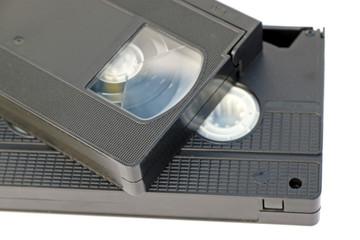 cassettes vidéo fond blanc