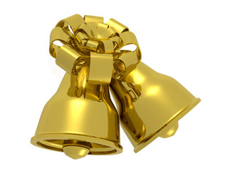 Two bells with gold bow