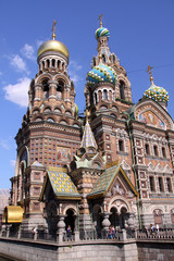Church of the Savior on Blood - very famous landmark in Saint Pe
