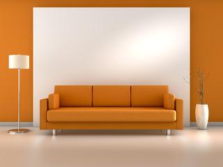 Raum orange