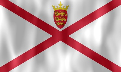 drapeau flottant jersey flag