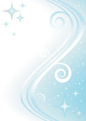 Christmas blue background with stars (vector)