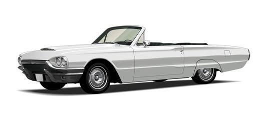1960's Vintage Convertable, White