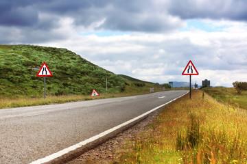 Road in Scotland, summertime