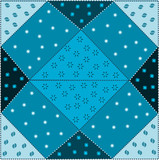 patchwork azzurro poster