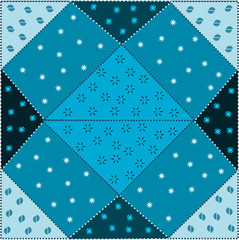 patchwork azzurro