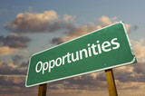 Opportunities Green Road Sign poster