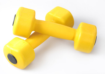 Dumbbells isolated on a white background
