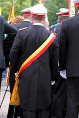 Schütze in Uniform bei einem Festumzug