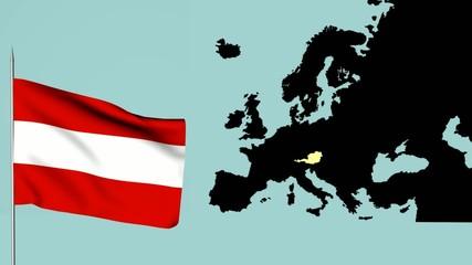 bandiere dell'europa Austria