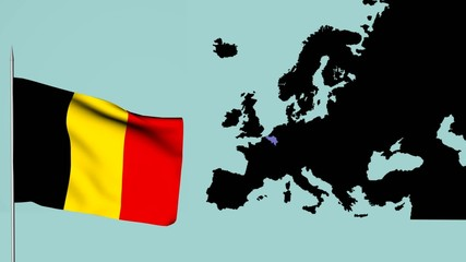 Europa bandiera del Belgio