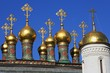 Goldene Türme im Kreml - Golden Domes in the Kremlin