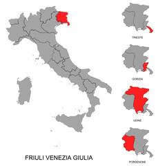 Friuli Venezia Giulia e province