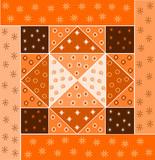 quadrato patchwork tinta arancione poster