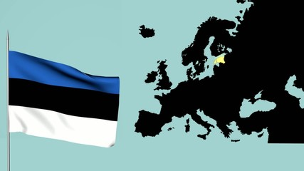 Bandiera Europa Estonia