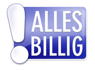 button label logo alles billig preiswert günstig shopping