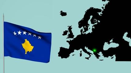 Bandiera Europa kossovo